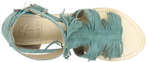 Black Lily Colette Sandal, Sandales femme Turquoise (Turquoise)