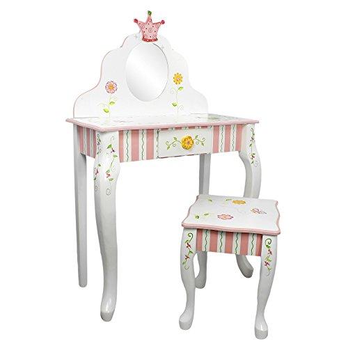 Fantasy Fields Princess & Frog MädchenHolz-SchminktischHocker W-7455SET - Prinzessin Beistelltisch