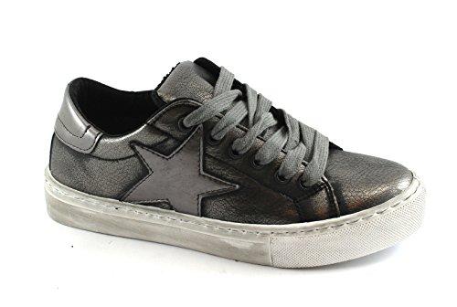 Divine Follie 106 Canna Fucile Grigio Scarpe Donna Sportive Sneakers Lacci Grigio