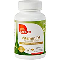 Advanced Nutrition by zahler 2000iu masticabili Vitamina D3, un supplemento