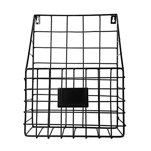 VICKY-HOHO Simple Iron Wall-Mounted Hanging Rack Magazine Zeitungsspeicher-Regal-Organisator (A) - Wall Magazin Rack Mounted