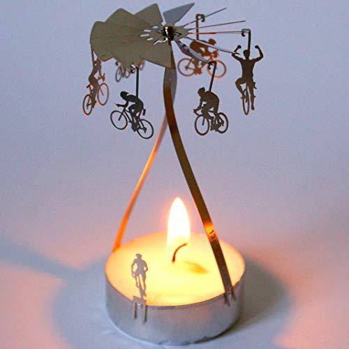 13gramm Rennrad Souvenir Teelicht Pyramide, 3D Edelstahl Kerzen Karusell