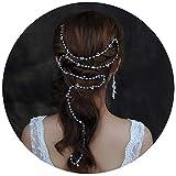 TOPQUEEN Silber Perle Braut Haarkamm Hochzeit Haarschmuck Tiara Diadem, Schmetterlinge (HP08-S)