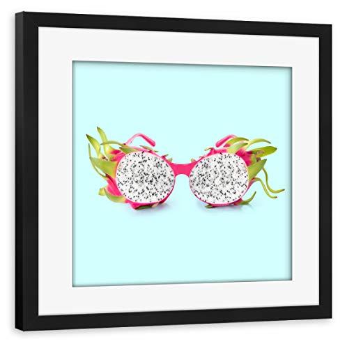 artboxONE Poster mit Rahmen schwarz 40x40 cm Dragon Sunglasses von Paul Fuentes Design - gerahmtes Poster