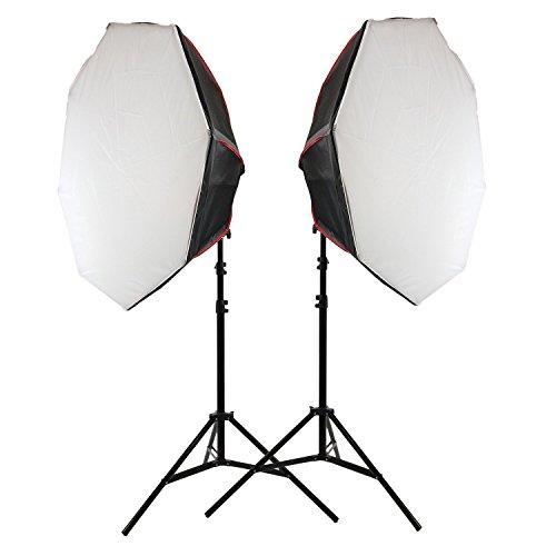 Led Dauerlicht Fotolicht Videoleuchte mit Softbox Life of Photo ES-955 18x18W LED Lampen wie 2700W Tageslicht für Fotoshooting und Videodreh