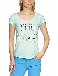 Object Damen T-Shirt 23013991 TEREZA SS TOP, Rundhals
