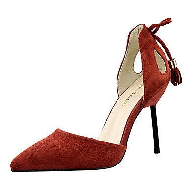 Moda Donna Sandali Sexy donna tacchi tacchi estate pu Casual Stiletto Heel altri nero / rosa / rosso / grigio / arancio altri Pink