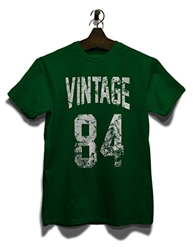 Vintage 1984 T-Shirt Dunkel Grün