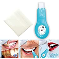 Pro Nano Teeth Whitening Kit, Soft Teeth Cleaning Whitener Brush Tooth for Brown Tooth Smoke, Coffee, Tea, Fruit Juice, Chewing Area Pigments(2 Handles + 5 Strips)