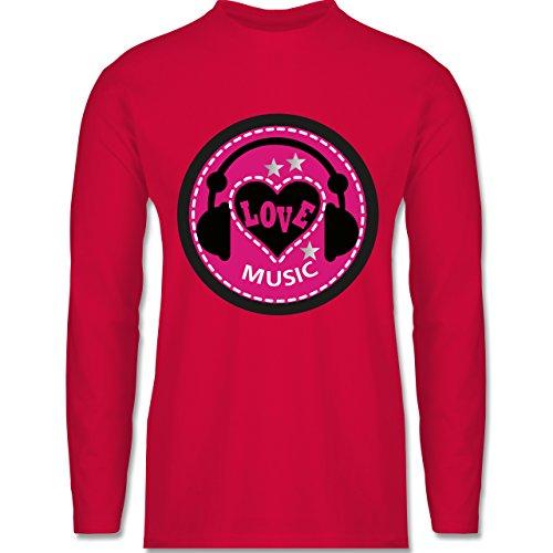 DJ - Discjockey - Love music - Longsleeve / langärmeliges T-Shirt für Herren Rot