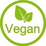 ''Vegan Indoor etiqueta–etiqueta–108unidades, 2,2cm diámetro. Sticker/Label: 80g calidad de impresión de calidad en la pantalla de vinilo blanco brillante