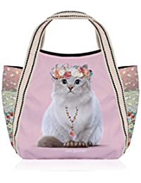Petit sac shopping Téo Jasmin Liberty - Poudre