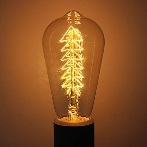 E27-Glühlampen-Birnen-Eichhörnchen-Käfig-Faden-Licht 40W im Freienbeleuchtung führte Retro Lampen-Ampulle Edison für Seil-Lichter, B