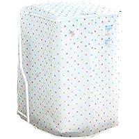Vosarea Schutzhülle für Waschmaschine, Zum Aufladen, für Oberwäsche, Trockner, Wasserdicht (Transparent) Gepunktet