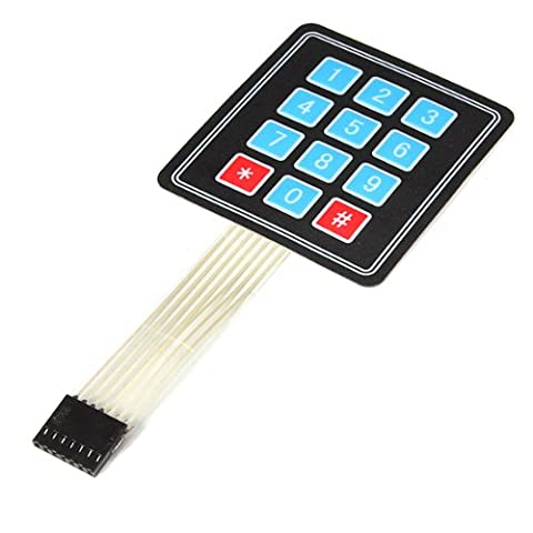 4 X 3 Matrix 12 Key Array Membrane Switch Keypad Keyboard