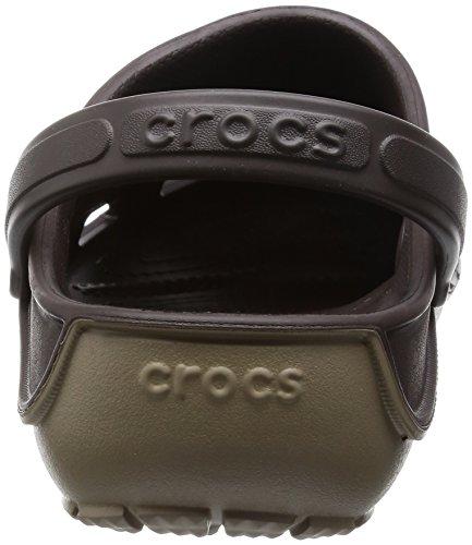 Crocs Duetáwaveáclog, Sabot Unisex – Adulto Marrone (Espresso/Khaki)