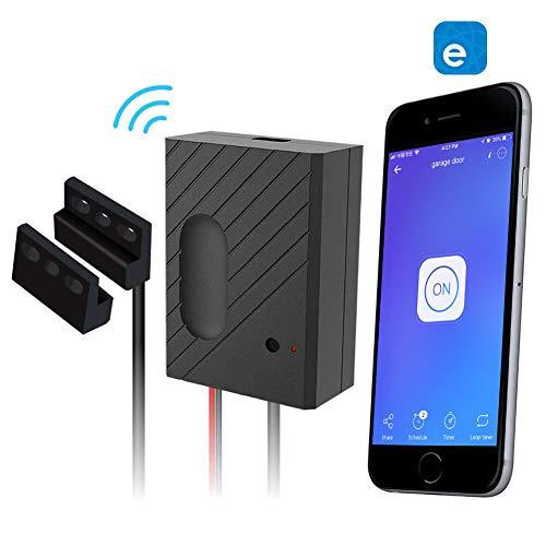 EACHEN Controlador de Puerta de Garaje WiFi funciona con Alexa/Google Home/Sonoff/Ewelink APP/IFTTT,...