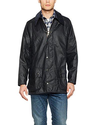 Barbour Beaufort Wax Jacket, Blouson Homme, Schwarz Blau (Navy 000)