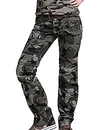 Tangda-Pantalon Camouflage Coton Armée Militaire Camo Jogging Femme Décontracté Loisir Travail Avec Ceinture Taille 36-42 Couleur de ceinture au hasard
