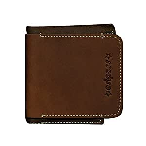 Genda 2Archer Portefeuille à 2plis en cuir mode sac à main