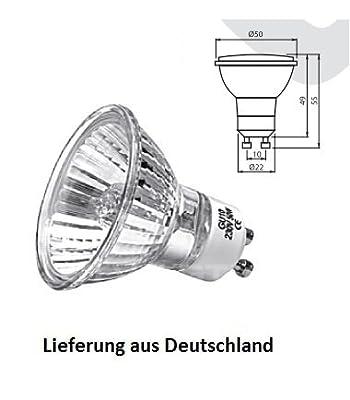 10 Stück Halogenlampe 230Volt GU10 50Watt von PROKIRA bei Lampenhans.de