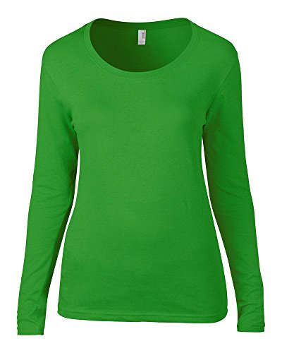 Anvil Anvil women's long sleeve sheer scoop tee Green Apple M (Long College Sleeve Tee)