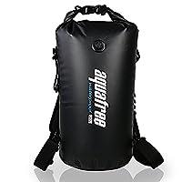 Aquafree Dry Bag, 40L Black Waterproof Backpack,( Inflatable Mouth & Side handle & Detachable Waistband & D-rings included), Comfortable and Heavy-Duty Grab Handle & Shoulder Strap, BEST Material Waterproof Backpack, 100% Waterproof