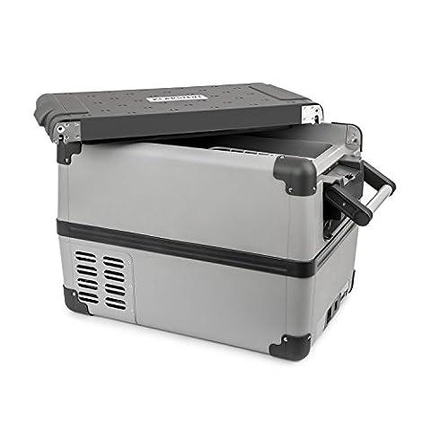 Klarstein Survivor 35 • Kühlbox • Mini-Gefrierbox • Kompressor • 35 Liter • Auto • Camping • Ausflüge • 12 Volt / 230 Volt • tragbar • -22 °C bis +10 °C • Betrieb über Zigarettenanzünder oder Netzstrom • herausnehmbarer Kühlkorb • USB-Port • grau