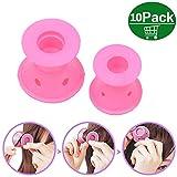 Rulli in silicone bigodini rosa senza l'uso di rulli per capelli in silicone Magic Heat Bigodini Grandi Flessibili