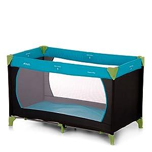 Hauck Kinderreisebett Dream N Play / inklusive Einlageboden und Tasche / 120 x 60cm / ab Geburt / tragbar und faltbar, Waterblue (Blau)