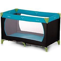 Hauck Dream N Play - Cuna de viaje 3 piezas 120 x 60 cm, bebe, incluido colchóncito y bolsa de transporte, de 0+ meses hasta 15 kg, plegado y montaje fácil, estructura ligera y muy estable, azul
