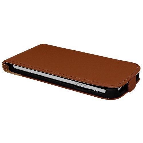 Avcibase 4260383187699 Flip PU Kunstleder Schutzhülle für Apple iPhone 6 gelb Braun