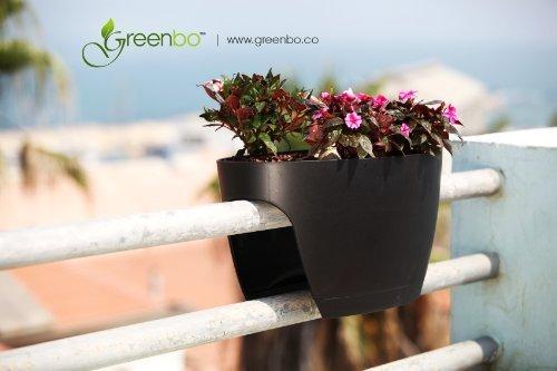 Fioriere In Plastica Per Balconi.Greenbo Xl Fioriera Fioriera Nero In Plastica Balcone Balcone