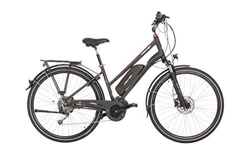 "Fischer E-Bike TREKKING Damen ETD 1820, Anthrazit, 28"", RH 44 cm, Mittelmotor 48 V/422 Wh, Shimano Deore Schaltung, LCD-Display inkl. Navi-App"