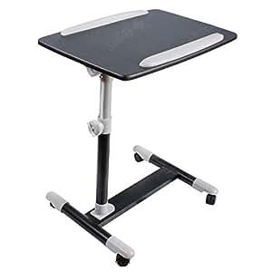 SoBuy® FBT07N2-Sch Table de lit pour ordinateur portable avec plateau inclinable à hauteur assistée