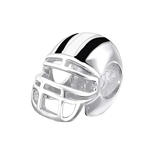 Rugby Helm Anhänger Sterling-Silber 925 Perle für