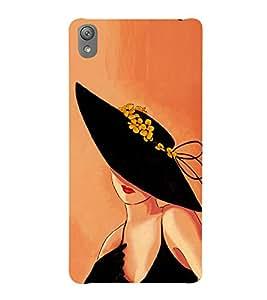 80's Fashion Girl 3D Hard Polycarbonate Designer Back Case Cover for Sony Xperia E5 : Sony Xperia E5 Dual