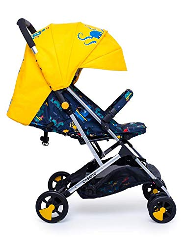 Cosatto Woosh 2 Stroller Sea Monsters with raincover and Bumper bar Birth to 25kg Best Price and Cheapest