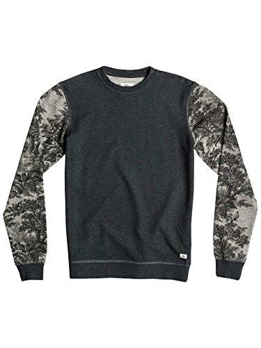 Quiksilver Herren Highway Coast Sweatshirt Dark Grey Heather