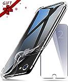 Coque iPhone 6 / 6S Silicone Transparent avec[2 Protecteurs d'Écran en Verre Trempé] SUPBEC étui iPhone 6 [Nouvelle Version][Protection intégrale] Souple Coque Anti Choc pour iPhone 6/6s-4.7''