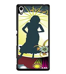 PRINTVISA Abstract Girl Case Cover for Sony Xperia Z4::Sony Xperia Z4 E6553