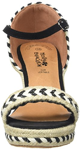 Molly Bracken Z102p17, Sandales Bride Cheville Femme Noir (Black)
