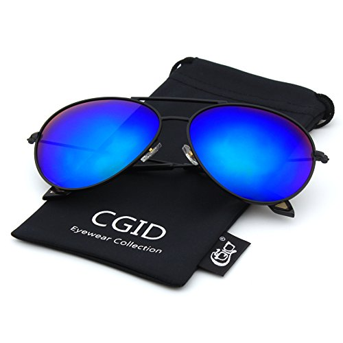 CGID CG809 Herren Aviator Sonnenbrille 62mm