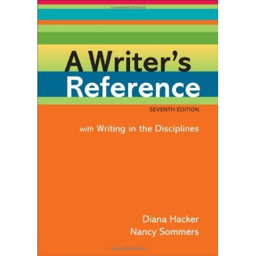 A Writer's Reference with Writing in the Disciplines by Diana Hacker (2011-04-08)