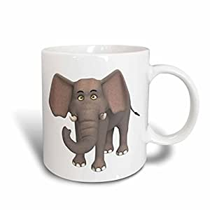 Buy 3drose Mug 164107 1 An Elephant Cartoon Character Ceramic Mug 11 Ounce Online At Low Prices In India Amazon In