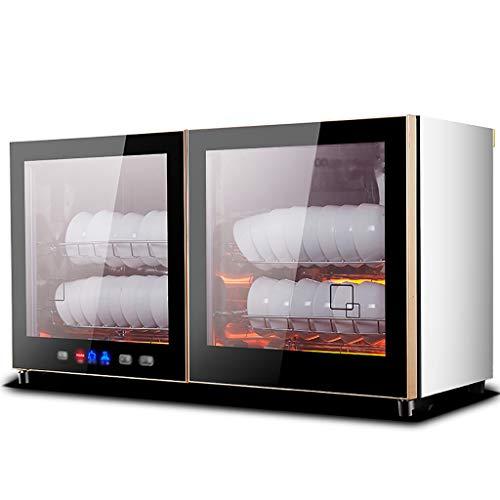 MXRqndqa Wärmegeräte Desinfektionsschrank Küche Mini Kleiner Haushalt Wandmontage horizontal hängender Schreibtisch für Gewerbe vertikal (Größe: 345X445X800mm) (Farbe : SCHWARZ)