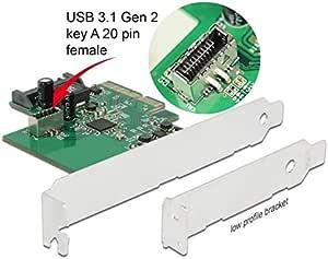 Delock Pci Express Card To 1 X Internal Usb 3 2 Gen 2 Elektronik