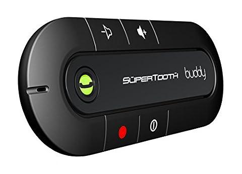 SuperTooth Buddy Handsfree Bluetooth Visor Speakerphone Car Kit for Smartphone