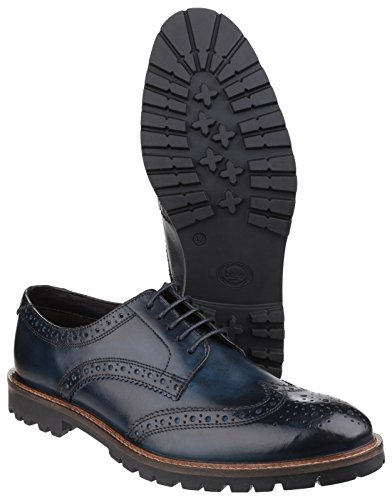 Base London Trench, Scarpe Stringate Brouge Uomo Blue