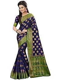 Traditional Fashion Latest Women's Kanjivaram Art Silk Saree With Blouse Piece